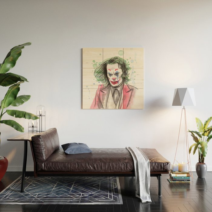 The Joker Wood Wall Art